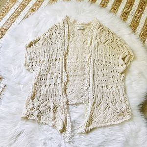 Abercrombie and Fitch knit lace kimono
